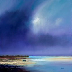 Inlet by Barry Hilton -  sized 32x32 inches. Available from Whitewall Galleries